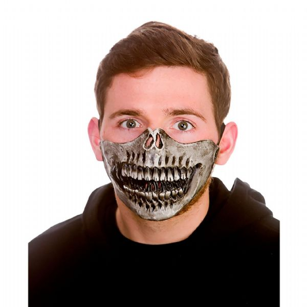 Latex Mask - Skeleton Half Face